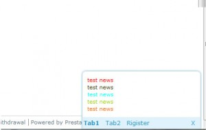 bottom news tab